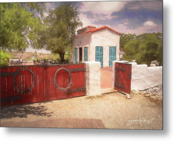 Ranch Family Homestead Metal Print