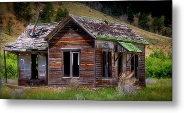Ranch House From The Past Metal Print