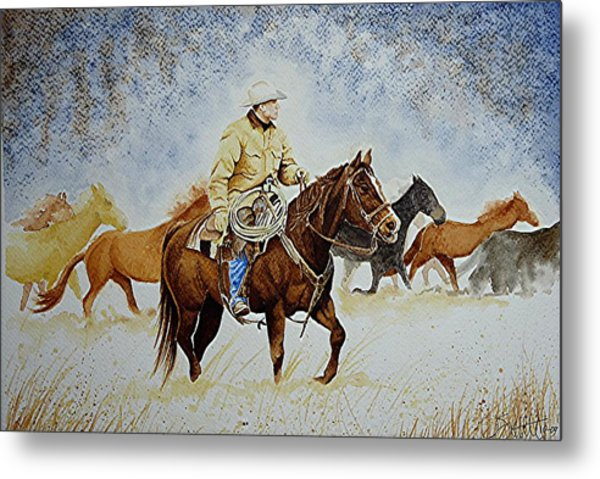 Ranch Rider Metal Print