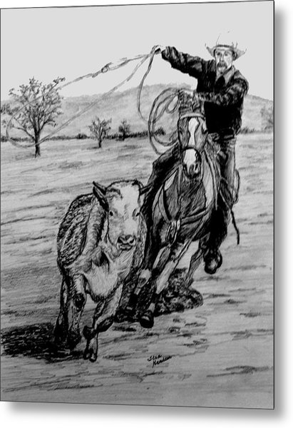 Ranch Work Metal Print by Stan Hamilton