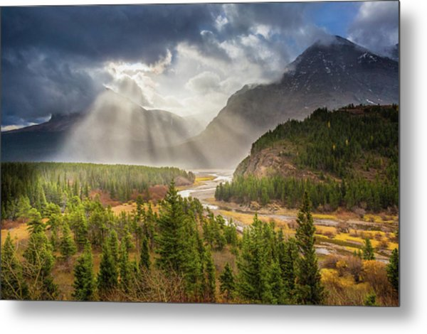 Metal Print featuring the photograph Range Of Light // Many Glacier Valley, Glacier National Park  by Nicholas Parker