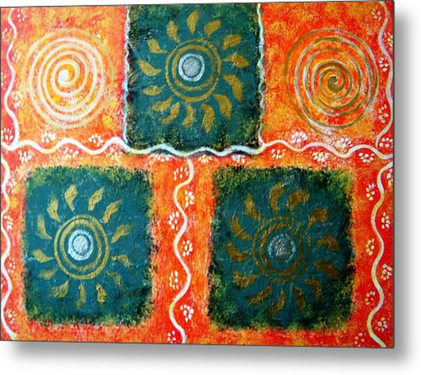 Rangoli Abstract Painting Metal Print