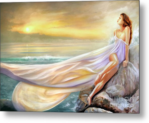Rapture In Midst Of The Sea Metal Print