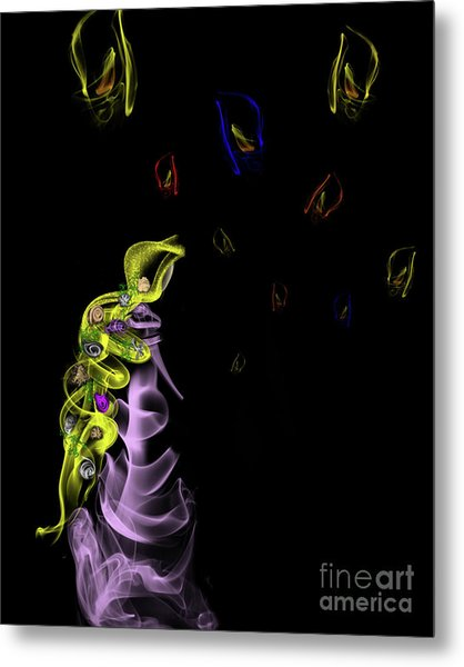 Rapunzel's Magic Flower Braid Metal Print