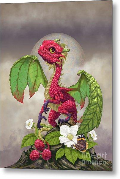 Raspberry Dragon Metal Print