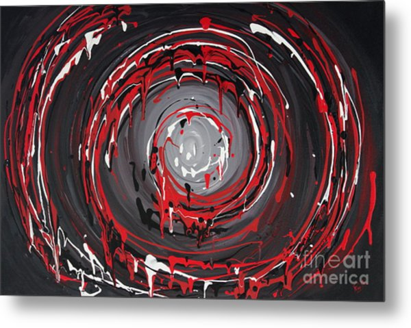 Raspberry Swirls Metal Print
