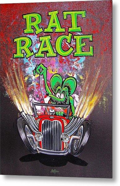 Rat Race Metal Print