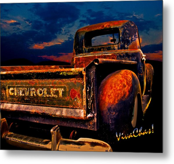 Rat Rod Chevy Truck Metal Print