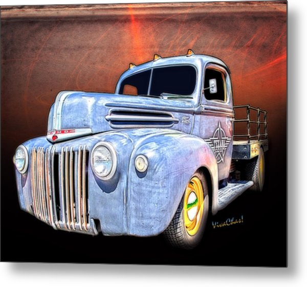 Rat Rod Flatbed Truck Texana Metal Print