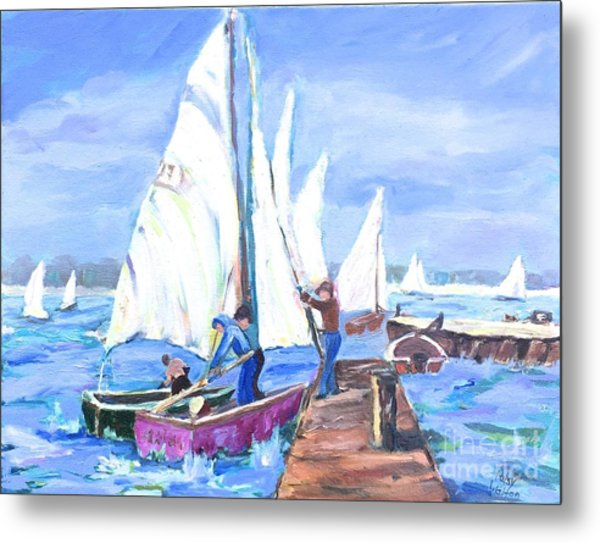 Rather Be Sailing Metal Print