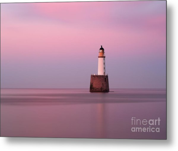 Rattray Head Lighthouse At Sunset - Pink Sunset Metal Print