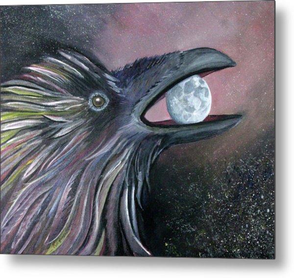 Raven Moon Metal Print by Amy Reisland-Speer