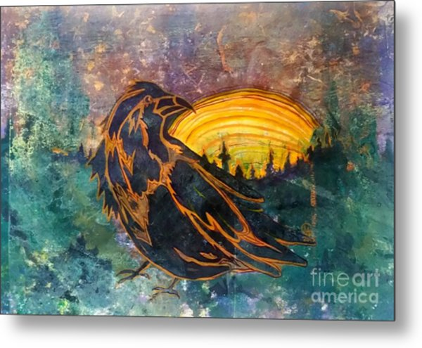 Raven Of The Woods Metal Print