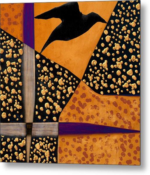 Raven Paints Light Metal Print