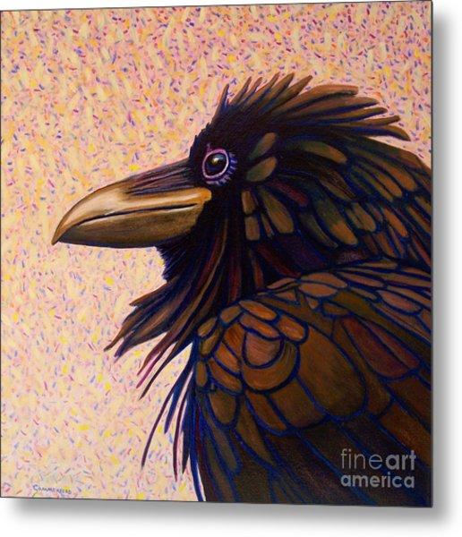 Raven Shaman Metal Print