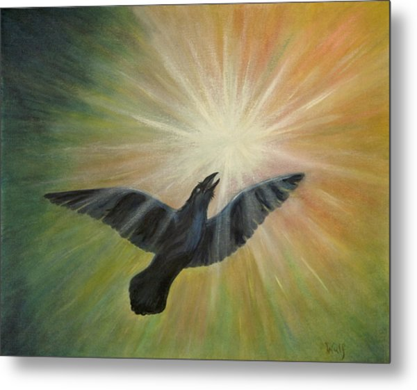 Raven Steals The Light Metal Print by Bernadette Wulf