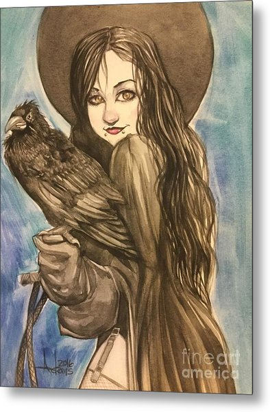 Raven Witch Metal Print