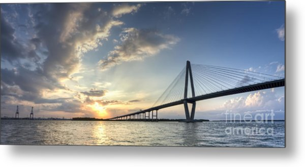 Ravenel Bridge Cooper River Sunset Metal Print