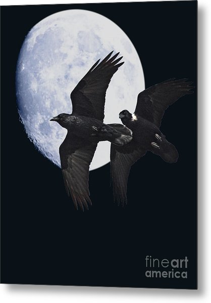Ravens Of The Night Metal Print