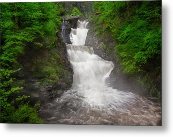 Metal Print featuring the photograph Raymondskill Falls by Susan Candelario