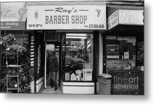 Ray's Barbershop Metal Print