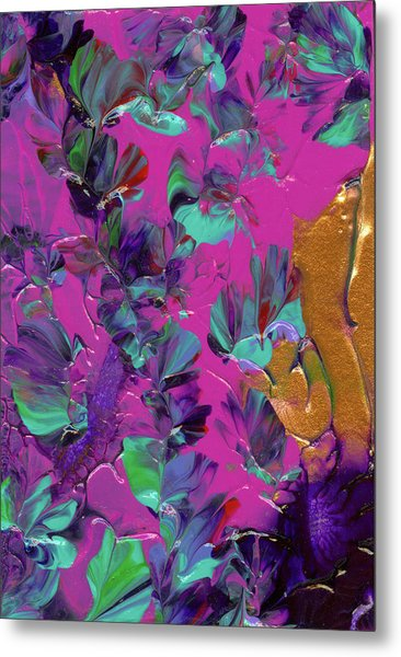 Razberry Ocean Of Butterflies Metal Print