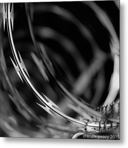 Razor Wire Up Close Metal Print