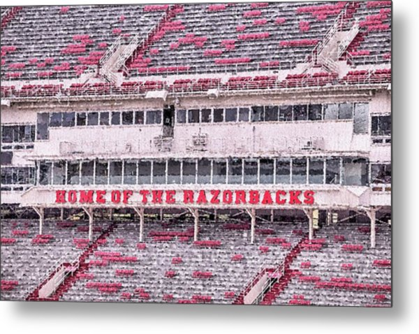 Razorback Stadium Metal Print by JC Findley