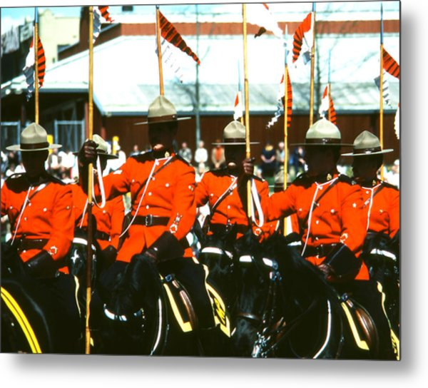 Rcmp Musical Ride Metal Print
