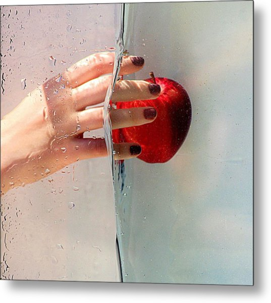 Reach For The Apple Metal Print