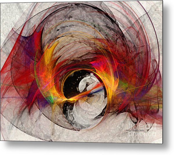 Reaction Abstract Art Metal Print