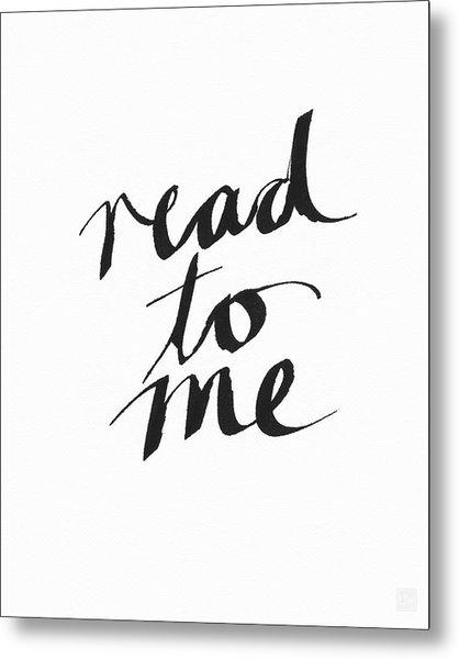 Read To Me- Art By Linda Woods Metal Print