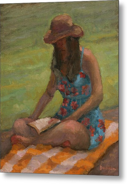 Reading At Jersey Valley Metal Print