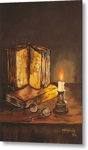 Reading Table Metal Print
