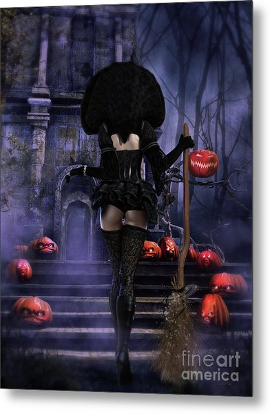 Ready Boys Halloween Witch Metal Print