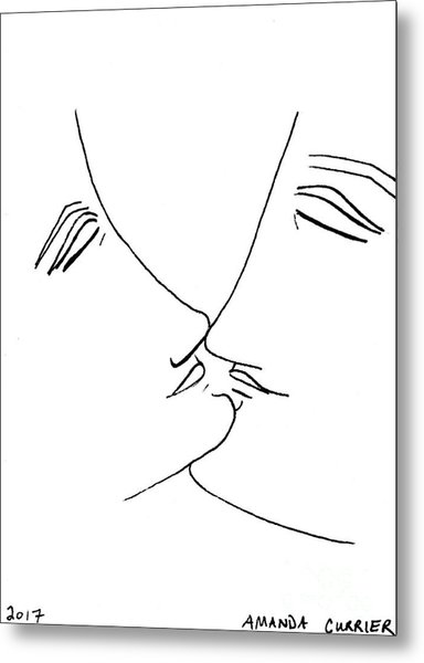 Ready To Kiss Metal Print by Amanda Currier