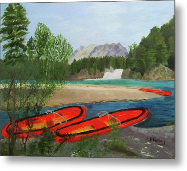 Metal Print featuring the painting Ready To Ride by Linda Feinberg