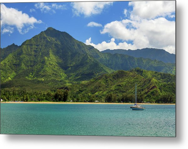 Ready To Sail In Hanalei Bay Metal Print