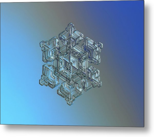 Metal Print featuring the photograph Real Snowflake - 05-feb-2018 - 5 by Alexey Kljatov