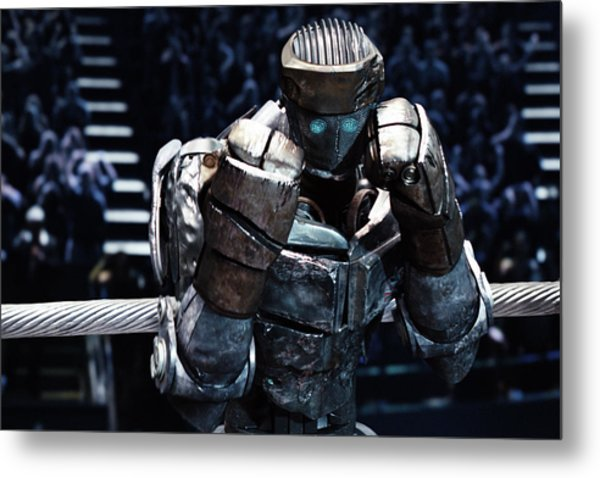 Real Steel Atom Metal Print