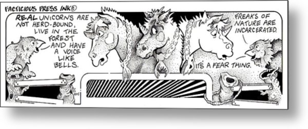 Real Unicorns Fpi Cartoon Metal Print