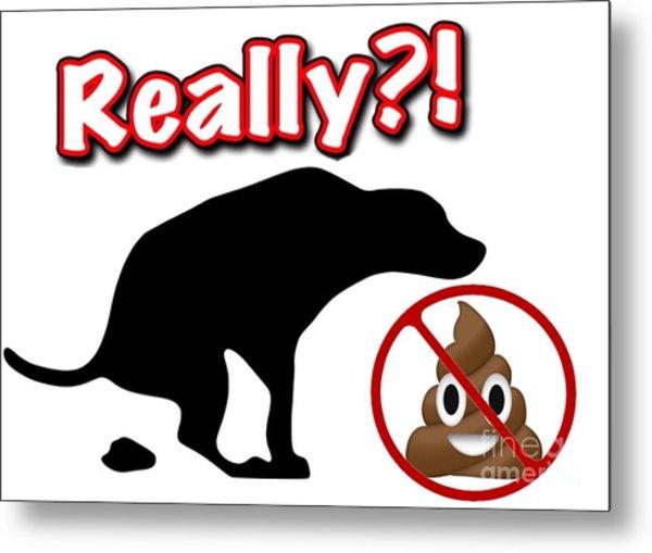 Really No Poop Metal Print