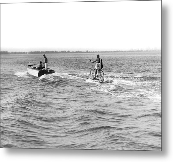 Really Riding The Waves Metal Print