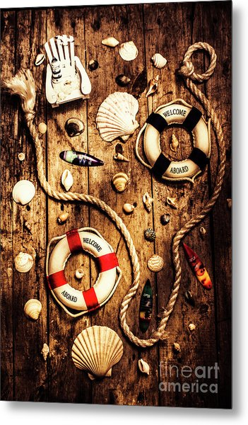 Rearranging The Deck Chairs Metal Print