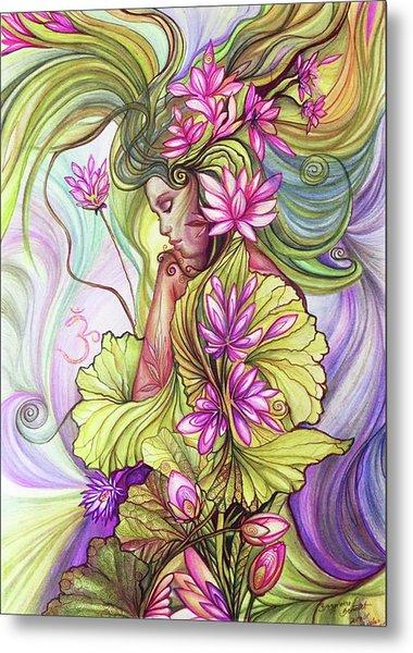 Rebirth With The Sacred Lotus Metal Print