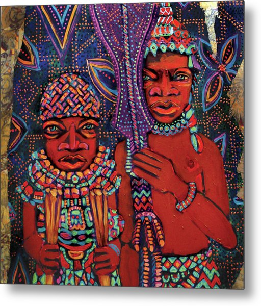 reCalling the Spirit Attendants with Paddles Metal Print