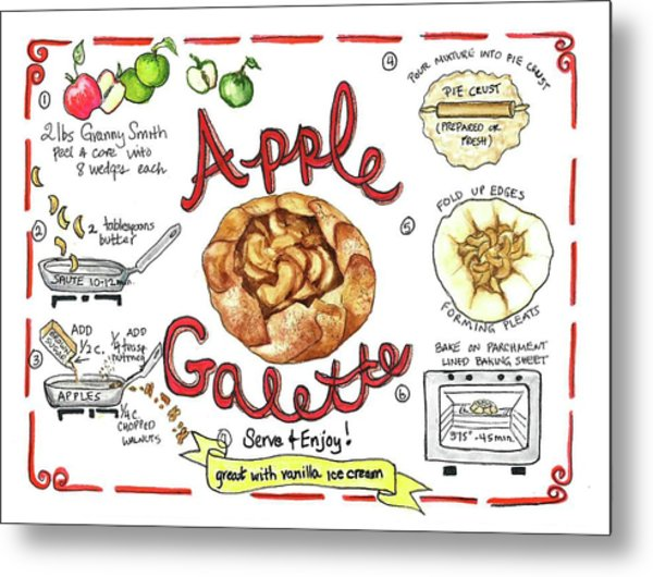 Recipe- Apple Galette Metal Print