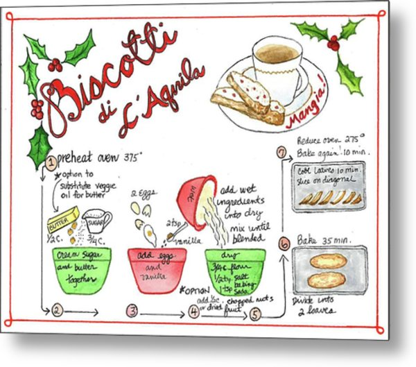 Recipe Biscotti Metal Print