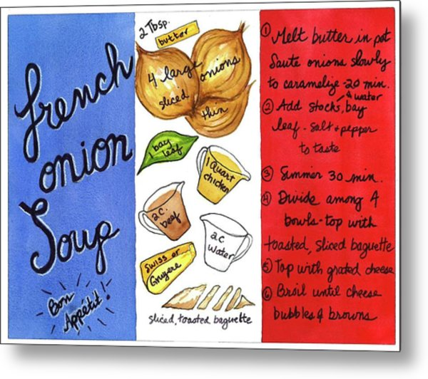 Recipe French Onion Soup Metal Print