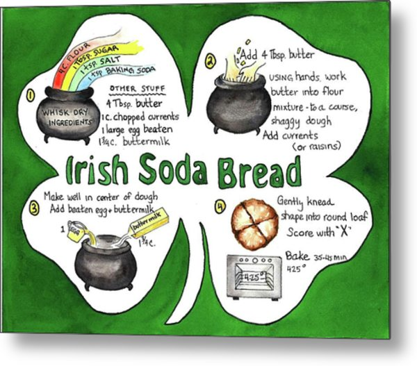 Recipe - Irish Soda Bread Metal Print